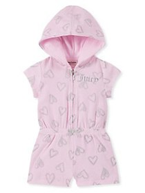 Juicy Couture Little Girl's Heart Cotton Blend Rom