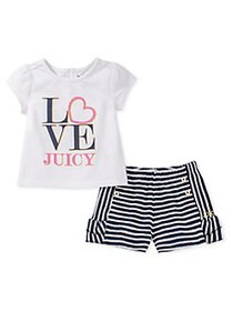 Juicy Couture Little Girl's 2-Piece Printed Top &