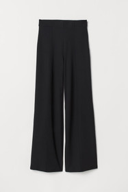 Wide-leg Pants with Creases