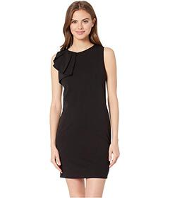 Bebe Asymmetrical Ruffle Shift Dress