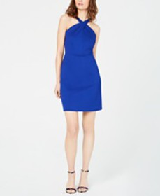 I.N.C. Crossed-Neck Bodycon Dress, Created for Mac