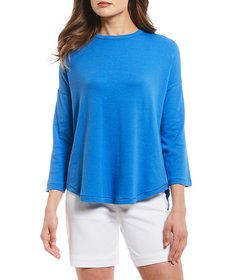 Westbound Petite Size Ribbed Crew Neck Shirt