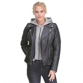 First Classics Distressed Leather Moto Jacket w/ H