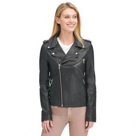 LAMARQUE Soft Asymmetrical Zip Leather Jacket