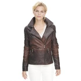 Wilsons Leather Vintage Distressed Asymmetrical Le