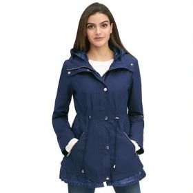 Designer Brand Cinched Waist Hooded Jacket