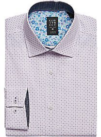 Construct Pink Star Slim Fit Dress Shirt