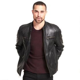 Wilsons Leather Rugged Moto-Inspired Leather Jacke