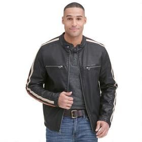 Wilsons Leather Motorcycle Faux-Leather Jacket w/