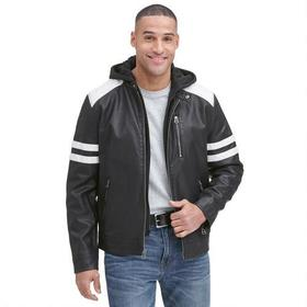 Wilsons Leather Faux-Leather Moto Jacket w/ Storm