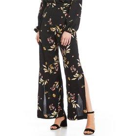 GB Coordinating Wide Leg Printed Pants
