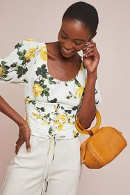 Anthropologie Corseted Rose Top