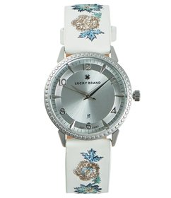 Lucky Brand Torrey Floral Embroidery Strap Watch
