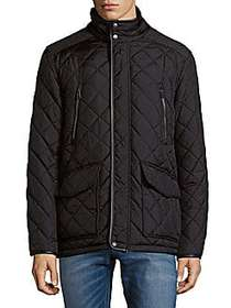 Cole Haan Quilted Down Jacket BLACK