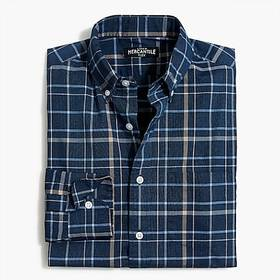 J. Crew Flex washed shirt in plaid