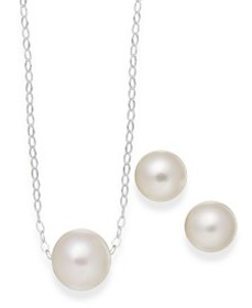 Cultured Freshwater Pearl Classic Jewelry Set in S