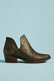 Anthropologie Musse & Cloud Metallic Booties
