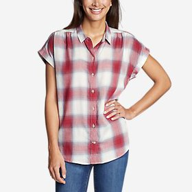 Women's Tranquil Short-Sleeve Shirred Shirt -