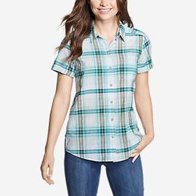 Women's Packable Short-Sleeve Shirt - Boyfrien