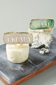 Anthropologie Agate Cheese Markers, Set of 4