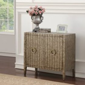 Traditional Stamped Ornate Metal Door Chest