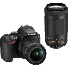 Nikon D3500 DSLR Camera with 18-55mm and 70-300mm