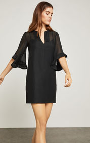 BCBG Tati Ruffle-Sleeve Dress