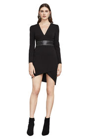 BCBG Natalea Asymmetrical Open-Back Dress