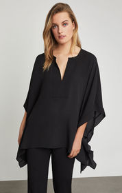 BCBG Dove Ruffle Kaftan Top