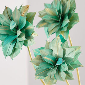 Crate Barrel New Artificial Blue Dahlia Flowers, S