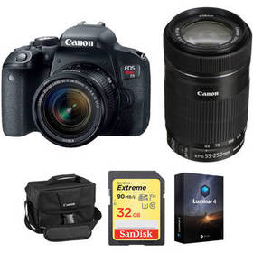 Canon EOS Rebel T7i DSLR Camera with 18-55mm and 5