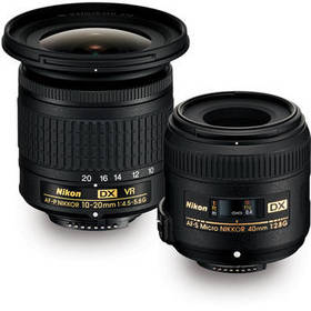 Nikon Landscape & Macro 2 Lens Kit with 10-20mm f/
