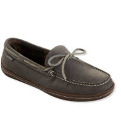LL Bean Men's Handsewn Slippers, Perforated Flanne