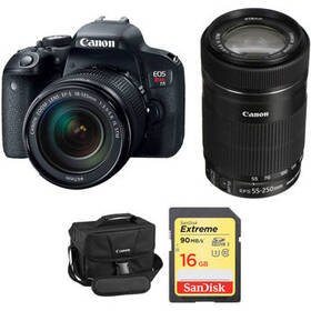 Canon EOS Rebel T7i DSLR Camera with 18-135mm and