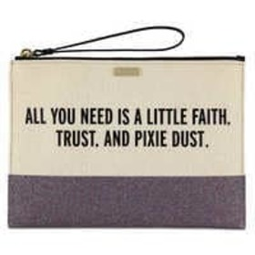 Disney Peter Pan Canvas Glitter Clutch by kate spa