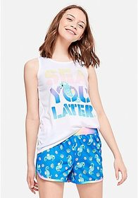 Justice Sea You Later Short Pajama Set