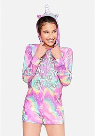 Justice The Unicorn Under My Bed Galaxy Romper