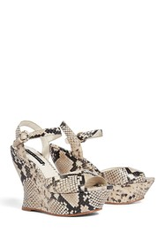 alice + olivia Jana Snake Patterned Wedge Sandal