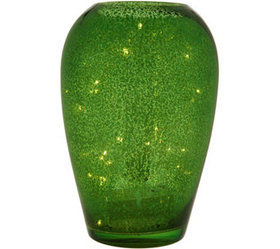 """""""As Is"""" Illuminated Mercury Glass Curved Vase by V"""