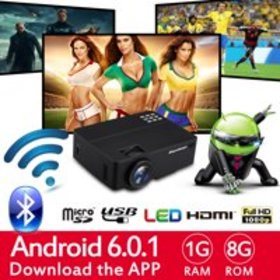 Excelvan Multimedia Home Theater Projector, Suppor