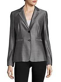 Max Mara Gomito Virgin Wool-Blend Blazer LIGHT GRE