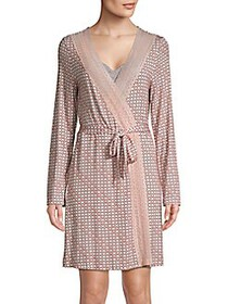 Saks Fifth Avenue COLLECTION Lori Geo Print Robe G