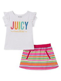Juicy Couture Little Girl's 2-Piece Ruffled Top &