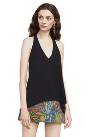 BCBG Jazzie Draped Halter Top