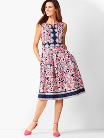Talbots Paisley Fit & Flare Dress