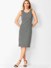 Talbots Refined Ponte Knit Sheath Dress - Honeycom