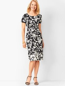 Talbots Floral Bateau-Neck Sheath Dress