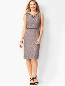 Talbots Tweed Split-Neck Sheath Dress