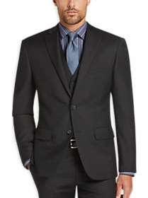 DKNY Charcoal Extreme Slim Fit Vested Suit