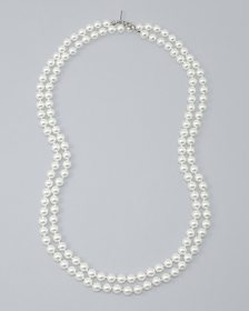 54-Inch Glass Pearl Necklace